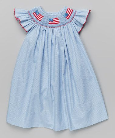 Another great find on #zulily! Light Blue Flags Bishop Dress - Infant, Toddler & Girls #zulilyfinds