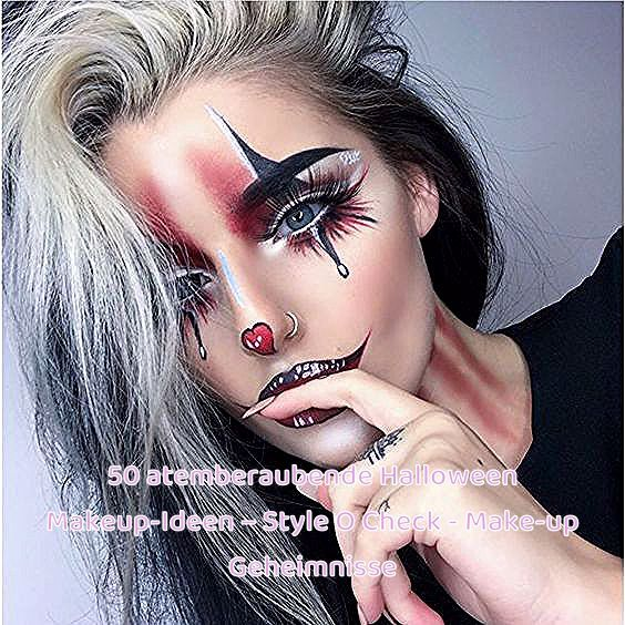 50 atemberaubende Halloween Makeup-Ideen - Style O Check #atemberaubende #check #halloween #ideen #makeup #style