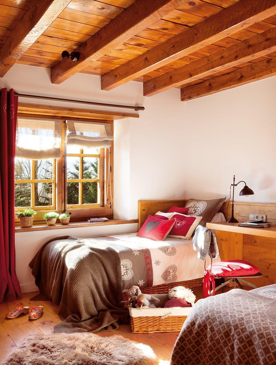 De madera por dentro y por fuera en 2019 dormitorios - Casas de campo por dentro ...