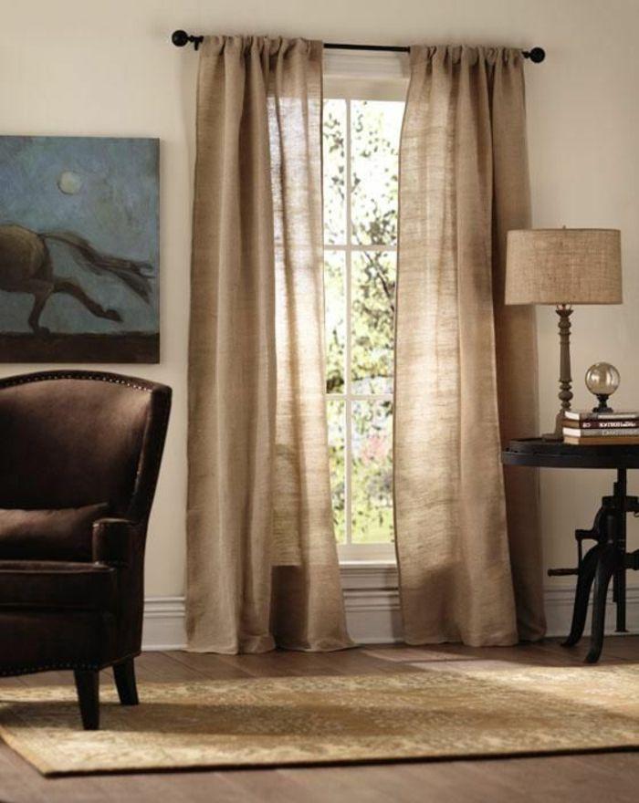le rideau en lin une belle d coration pour l 39 int rieur rideaux en lin les. Black Bedroom Furniture Sets. Home Design Ideas