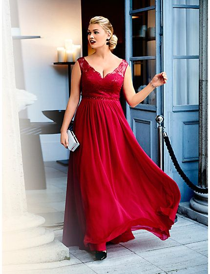 Guido Maria Kretschmer - Abendkleid rot im Heine Online-Shop kaufen |  Dresses | Pinterest | Shopping, Collection and Gowns