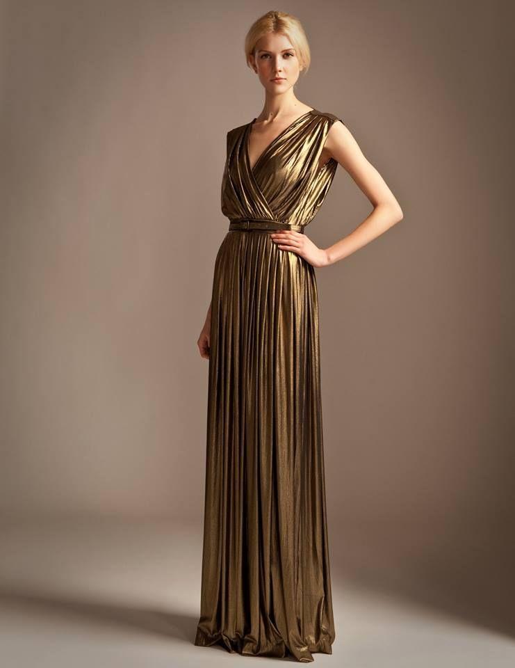 Gold Grecian dress. | THE dress- for Cal\'s wedding | Pinterest ...