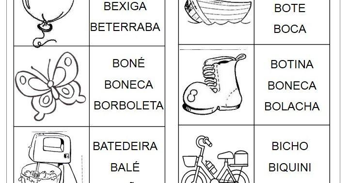 Atividades letra B - Prática de leitura | Atividades para ...