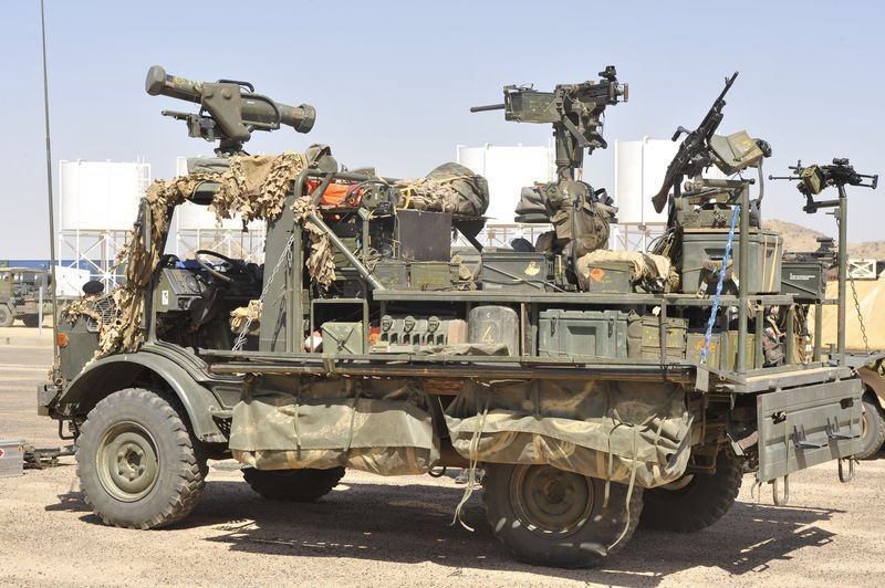 Mercedes Unimog 4X4. Special Forces LRPV   Carro de asalto ...