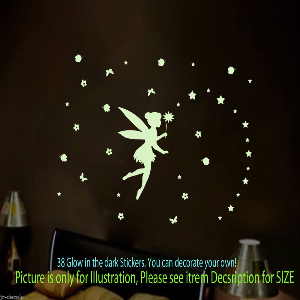 38 Glow In The Dark FAIRY TALE Wall Stickers, Wall Decals, Wall Art, Room  Decor Part 23