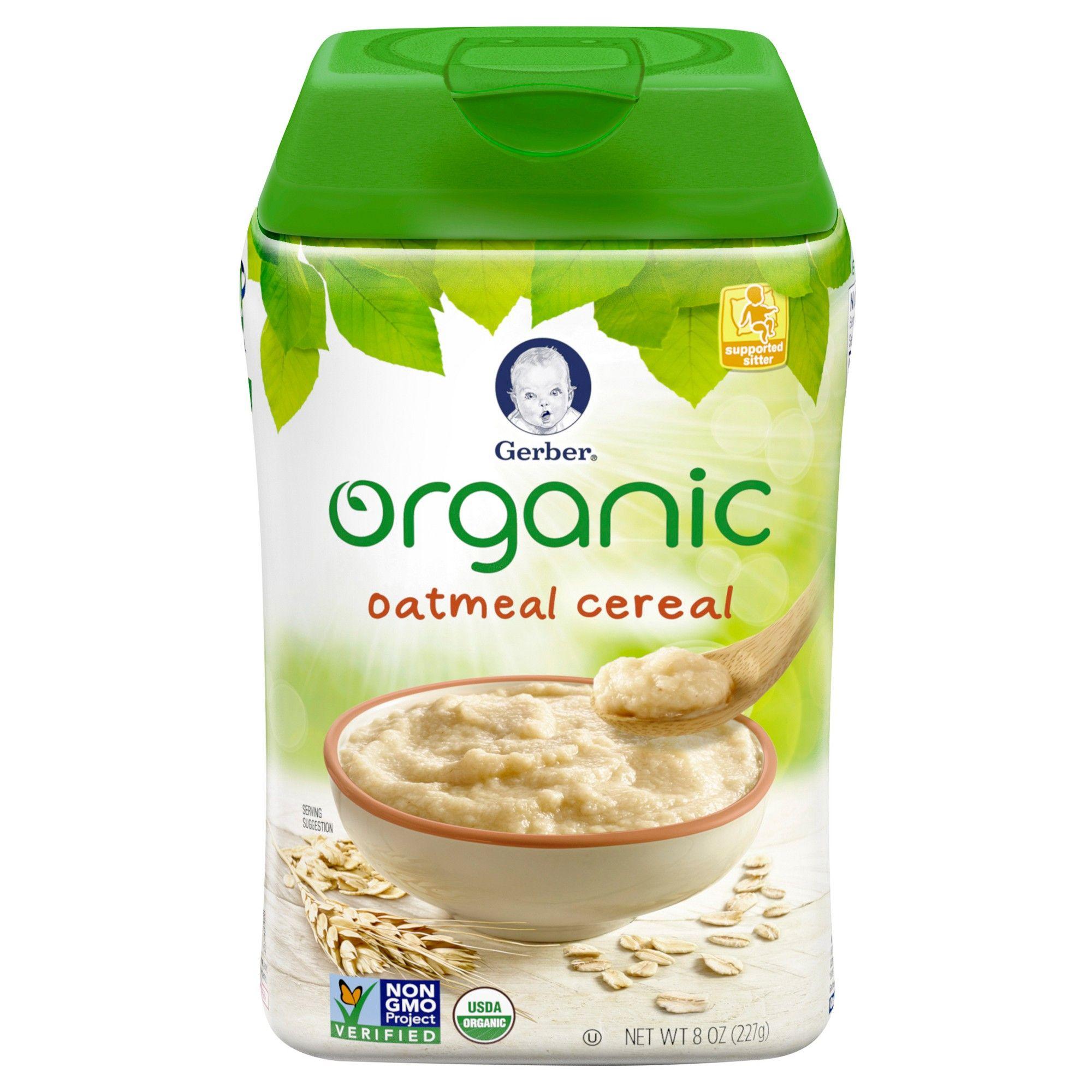 Gerber Organic Single Grain Oatmeal Baby Cereal