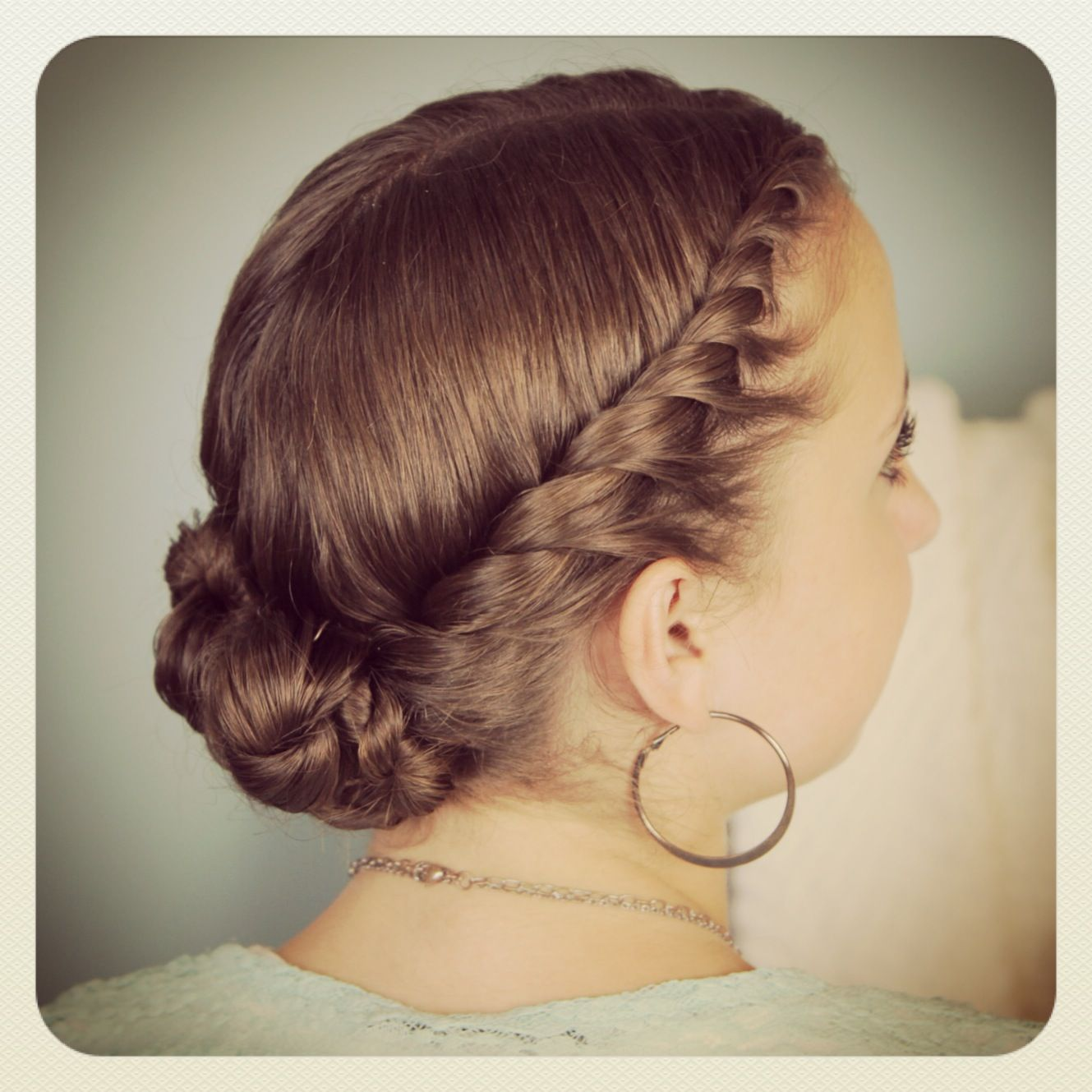 Doubletwist bun updo hairstyles and more hairstyles from