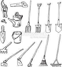 Resultado De Imagen Para Dibujos Faciles De Rastrillos Y Palas Garden Tools Garden Tools Design Garden Tool Storage