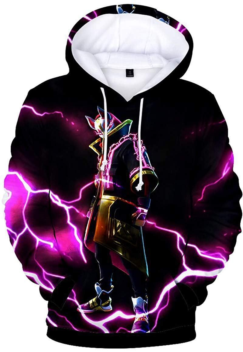 3D Printing Novelty Unisex Hoodie with Pockets
