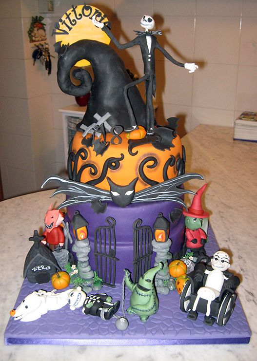 Nightmare before christmas cake Nightmare before Christmas