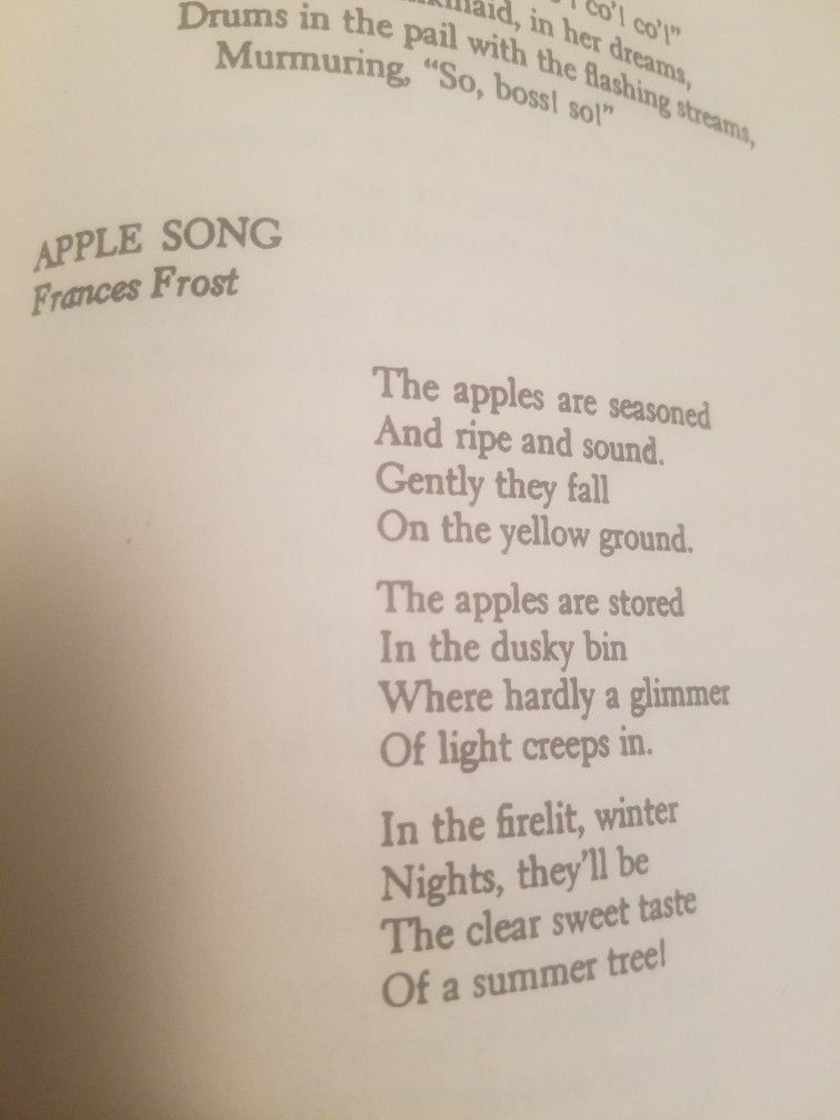 apple song by frances frost