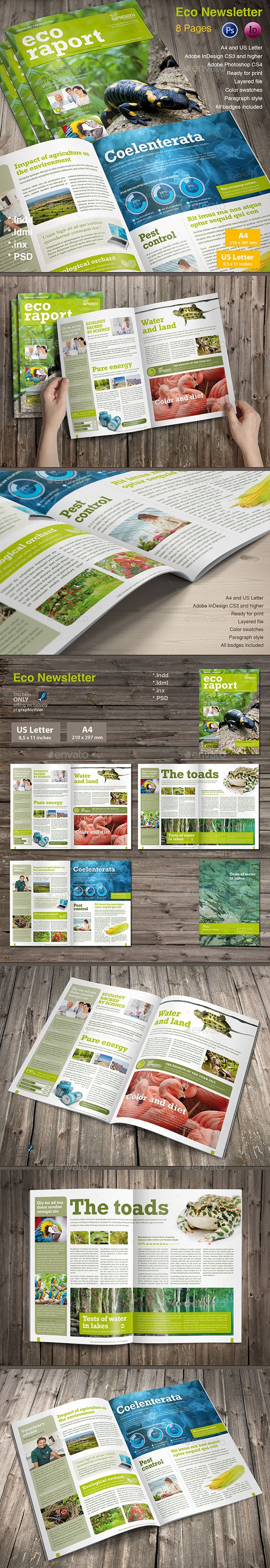 Eco Newsletter - Newsletters Print Templates Download here : https://graphicriver.net/item/eco-newsletter/13184990?s_rank=78&ref=Al-fatih