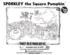 Halloween Printable  Spookley the Square Pumpkin coloring sheet