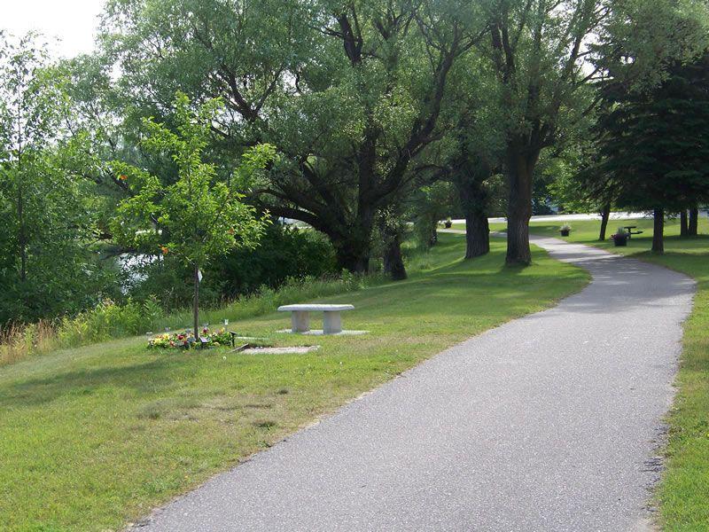Washington Avenue Park Bike Path in Alpena Mi