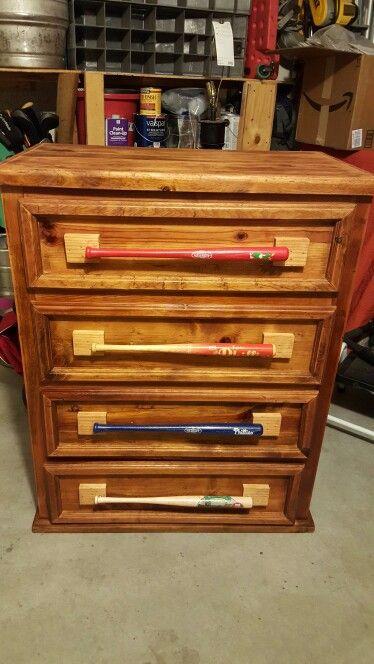 Mini Baseball Bat Drawer Pulls Wood Craft Projects Bat Craft