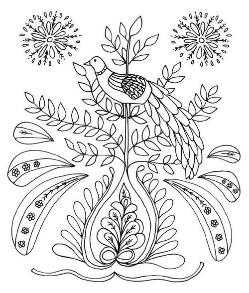 Just Add Color Folk Art Coloring Book Polish Folk Art Folk Art Folk Art Painting