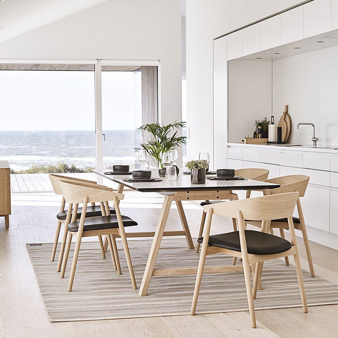 """T1 Table – 35"""" W – Alpino Laminate / Black – Lacquer"""