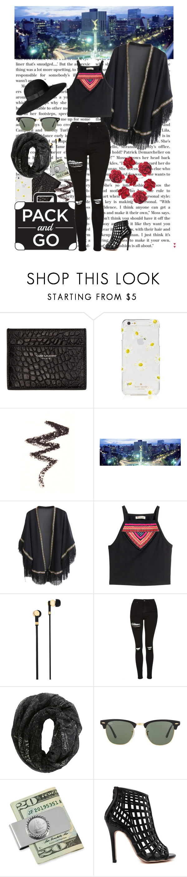 """""""Not this choice"""" by katiemcqueen ❤ liked on Polyvore featuring Yves Saint Laurent, Kate Spade, NYX, WithChic, H&M, Master & Dynamic, Topshop, Ray-Ban and American Coin Treasures"""