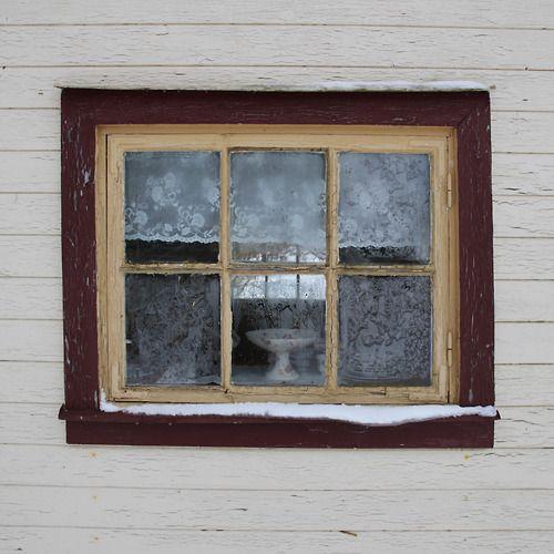 Cabin window from a cabin in Scandanavia