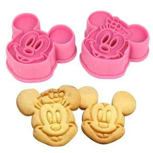 2 Cortadores De Galletas 3d Mickey Y Minnie Mouse Fondant Cookies Moldes Pastas Mickey Mouse Cookies Minnie Mouse Cookies Minnie Mouse Cookie Cutter