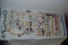 Vintage Jewelry Lot Signed Rhinestone Pearl Eisenberg Marvella Glass Get Glam On