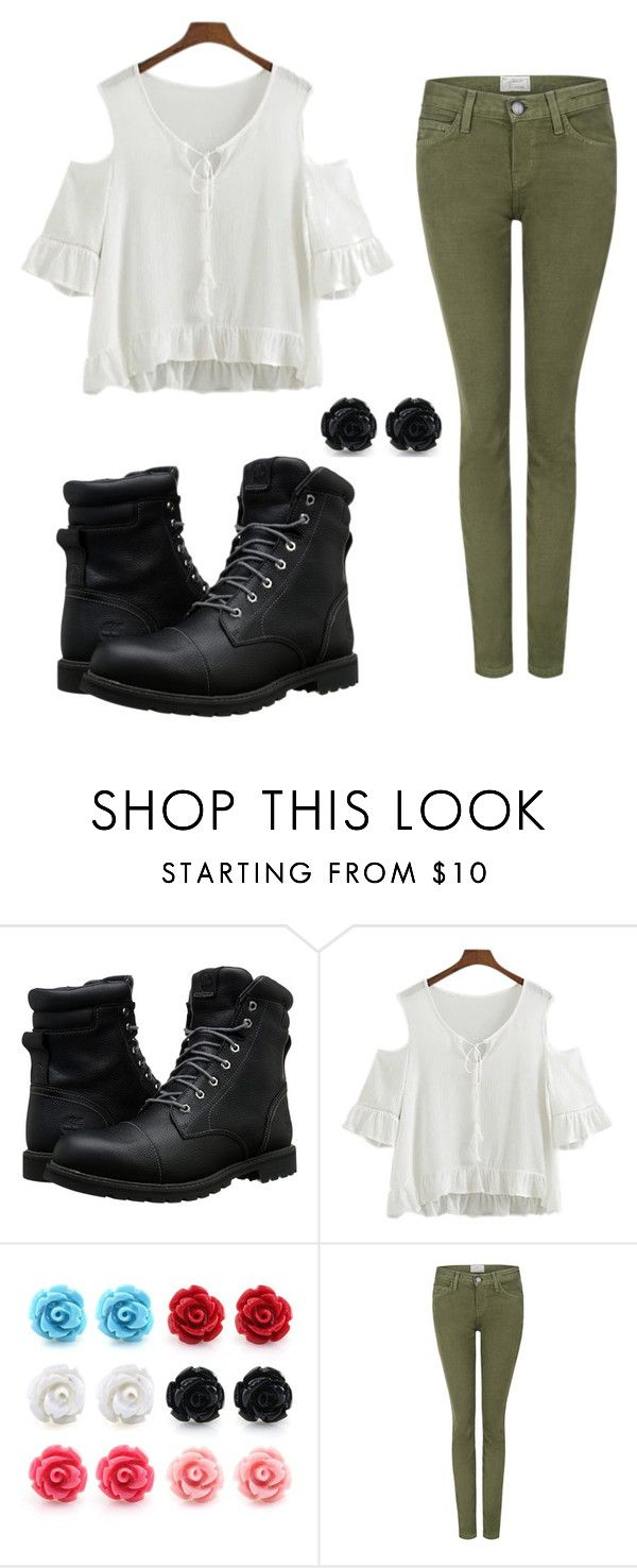 """""""Untitled #396"""" by random-pandas-are-awesome ❤ liked on Polyvore featuring Timberland and Current/Elliott"""
