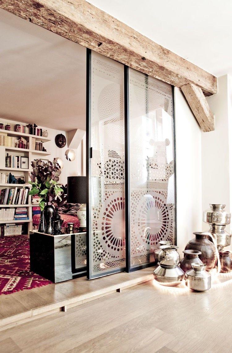 sch ne muster und verspielte ornamente mit dekorfolien wohnen schiebe t r raumteiler und. Black Bedroom Furniture Sets. Home Design Ideas