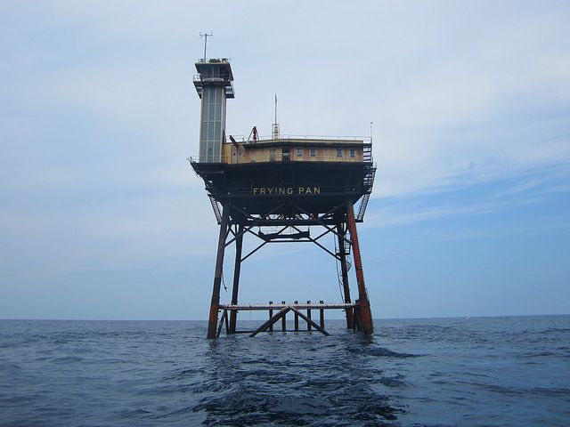 15 Strangely Awesome Things Found Only In North Carolina. This is Frying Pan Lighthouse, no longer in use, now a bed and breakfast.