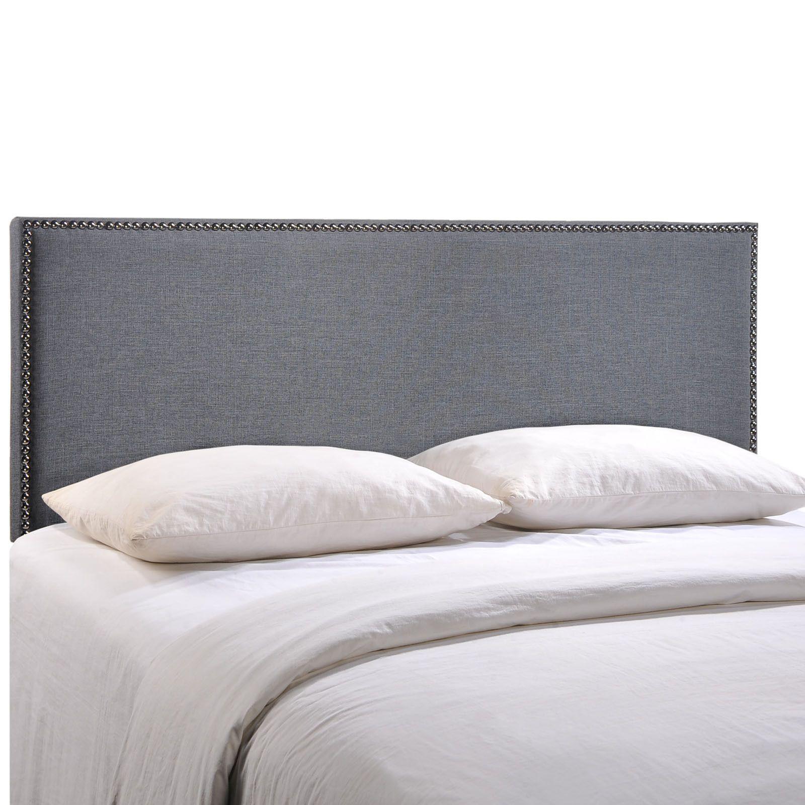 Region queensize nailhead upholstered headboard by modway queen