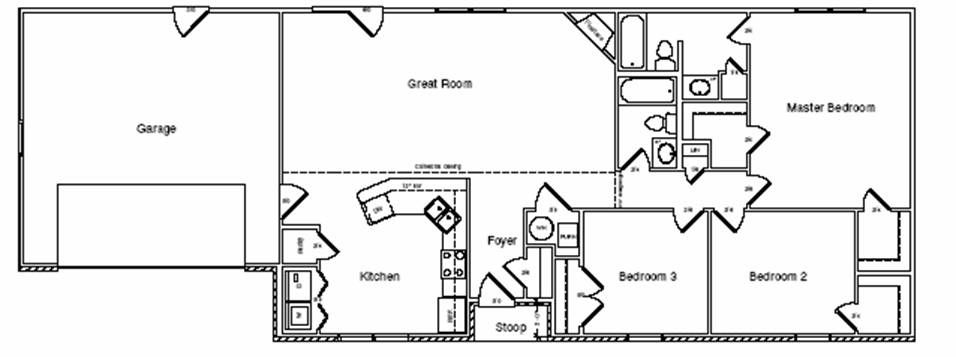 Split Bedroom Ranch Floor Best Ranch Floor Plans | Bathroom