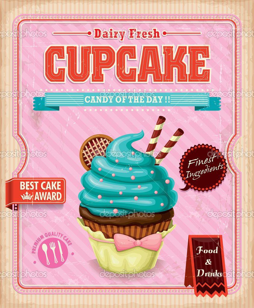 cupcakes desenho vintage - Pesquisa Google | guloseimas ...