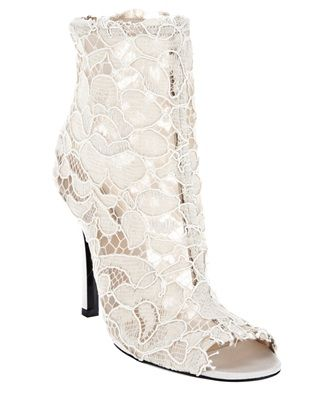 Dolce Gabbana  Beige Lace Boot