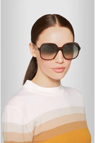 Square-Frame Acetate Sunglasses Victoria Beckham NN2ZiW4OBe