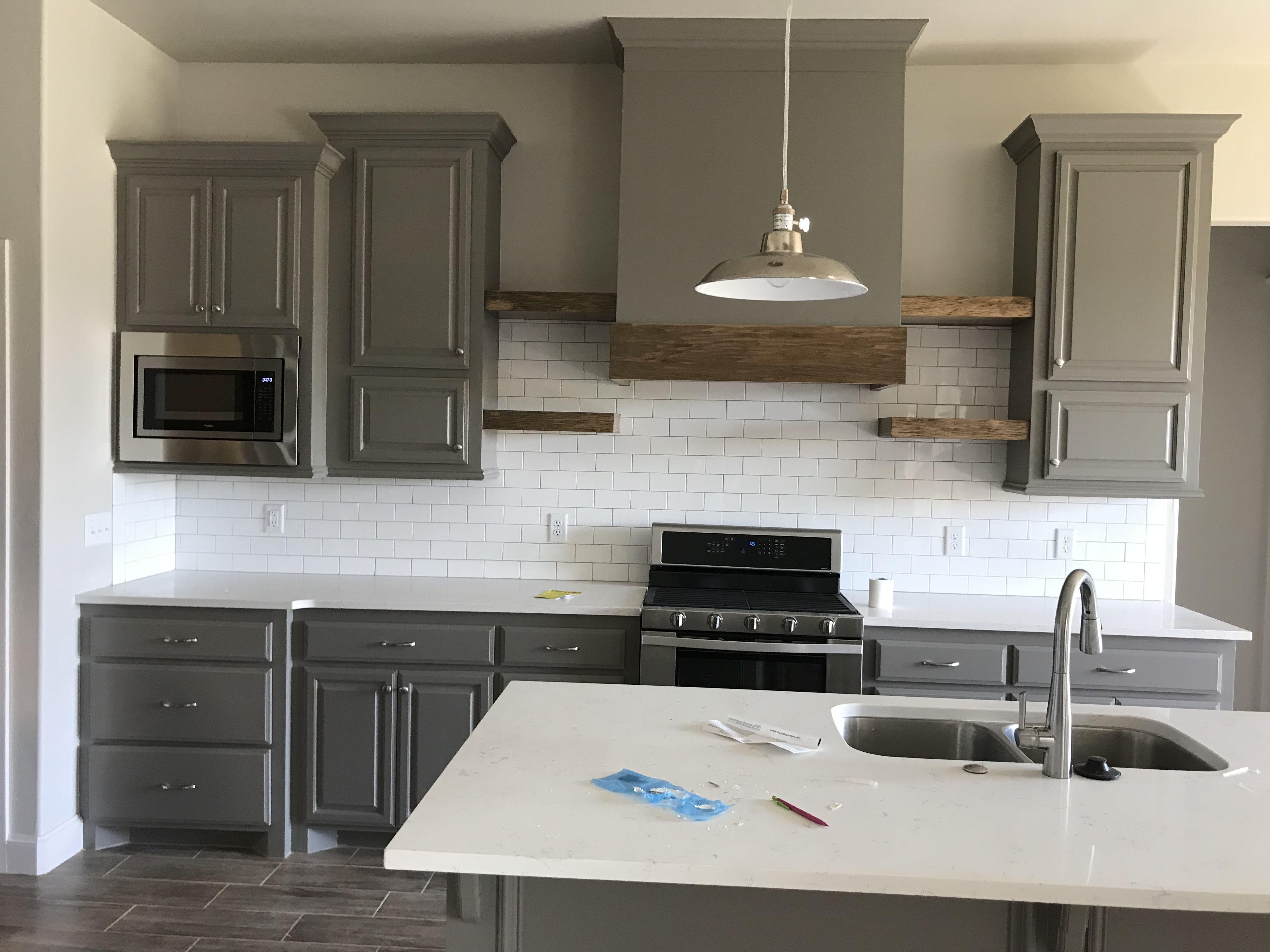 Kitchen Kitchen Design Floating Cabinets Hidden Microwave