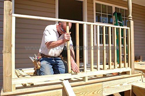 How to Build a Simple Wooden Deck Rail Decks Pinterest