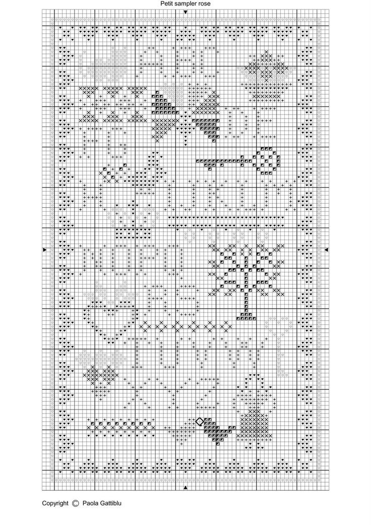 free cross stitch sampler patterns Sampler Chart ~ Pretty - free chart