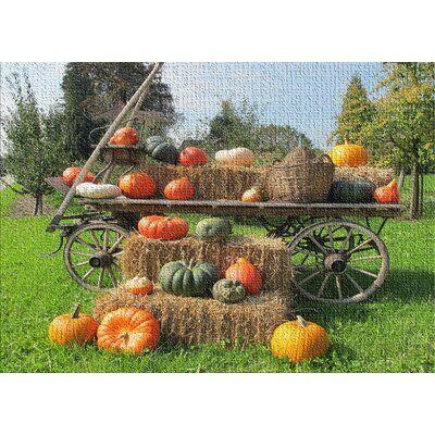 East Urban Home Pumpkins Cotton Green Area Rug Rug Size Rectangle 4 X 6 Green Area Rugs Outdoor Halloween Halloween Outdoor Decorations