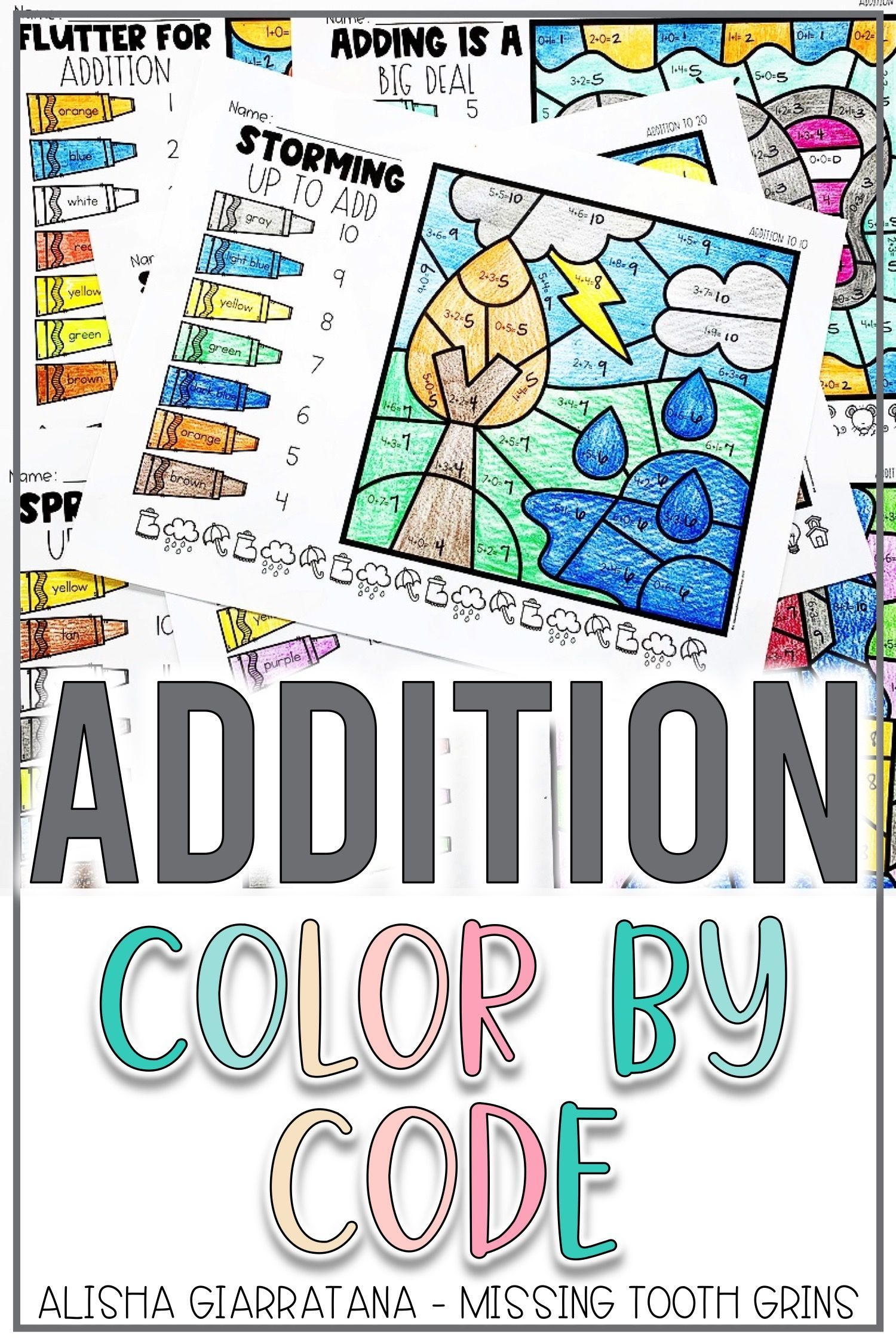 Color By Code Addition