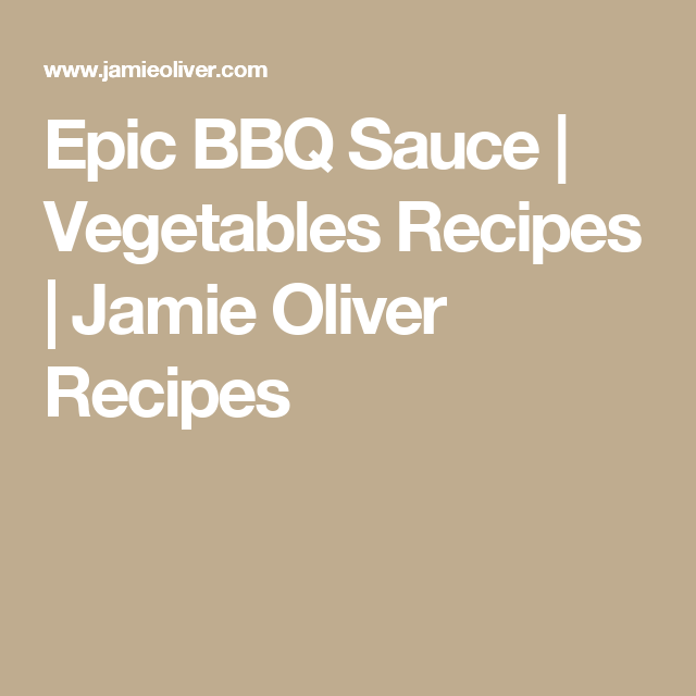 My Epic Bbq Sauce Rezept Pinterest