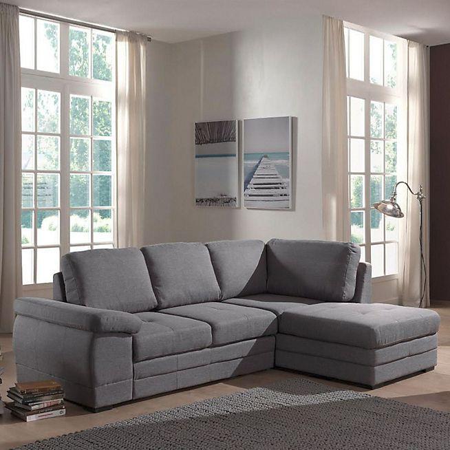 Ikar Canapé Dangle Droit Convertible En Tissu Gris Home - Canapé convertible scandinave pour noël magasin de décoration