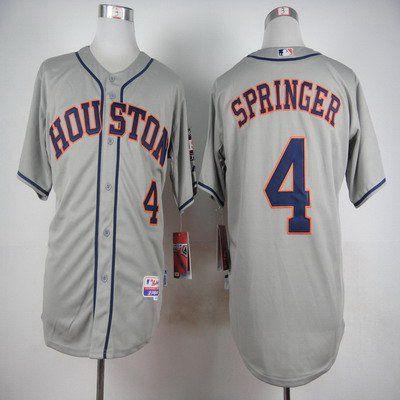 quality design 8a5d4 47536 Men's Houston Astros #4 George Springer Gray Jersey | MLB ...