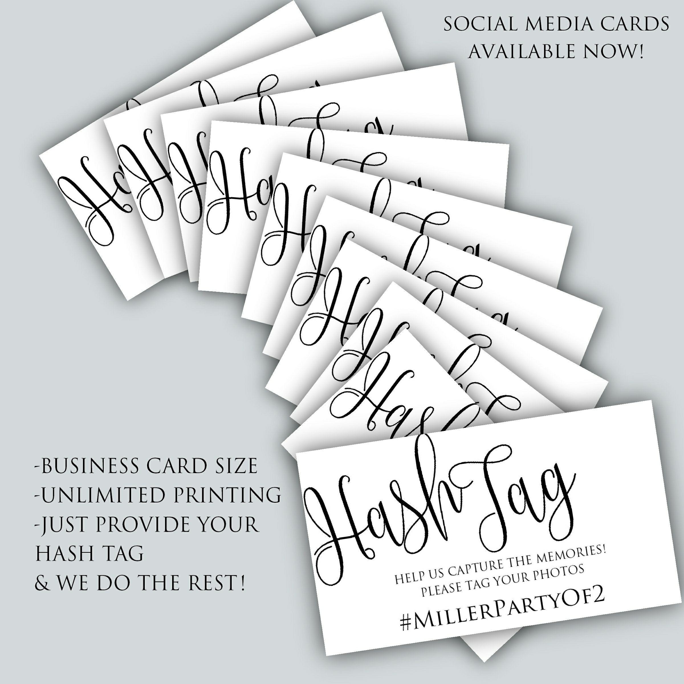 Social Media Scatter Cards from Posh Pixel Designs   Weddings