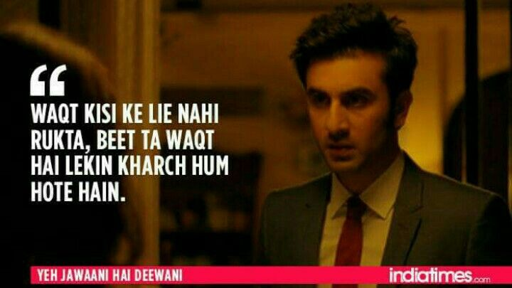 Yeh Jawaani Hai Deewani Bollywood Quotes Bollywood Love Quotes Filmy Quotes