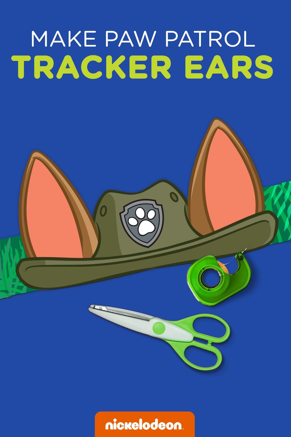 Paw Patrol Tracker Printable Ears Paw Patrol Birthday