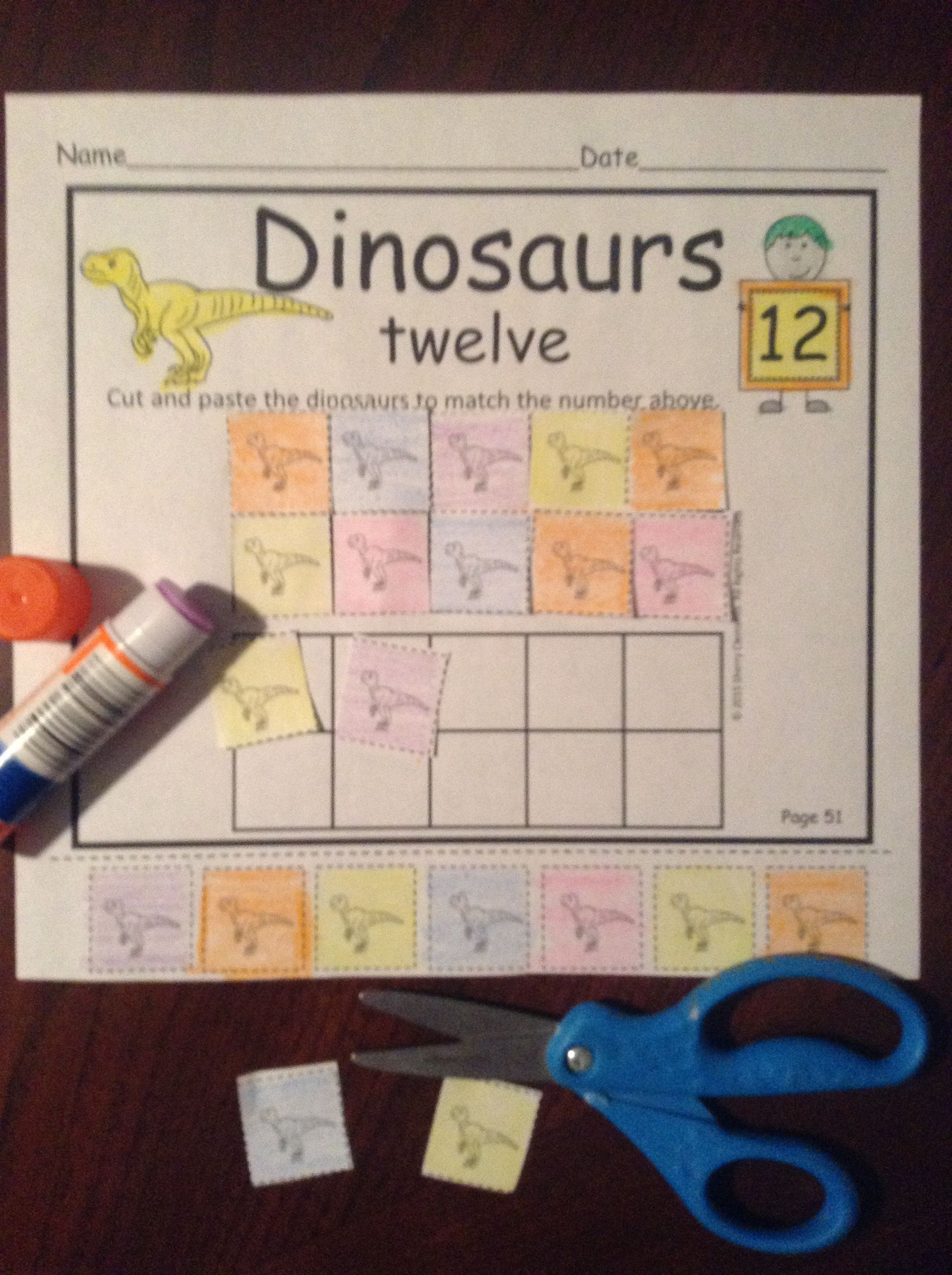 Dinosaurs Number Book 0 20