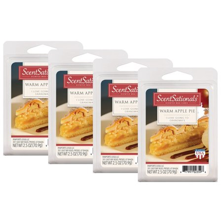 Scentsationals 2 5 oz Warm Apple Pie Scented Wax Melts, 4
