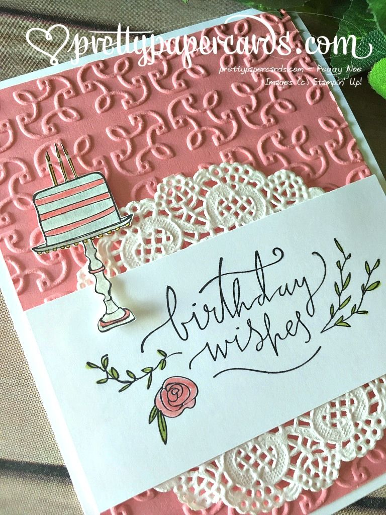 Stampinu up happiest of days birthday card peggy noe stampin up