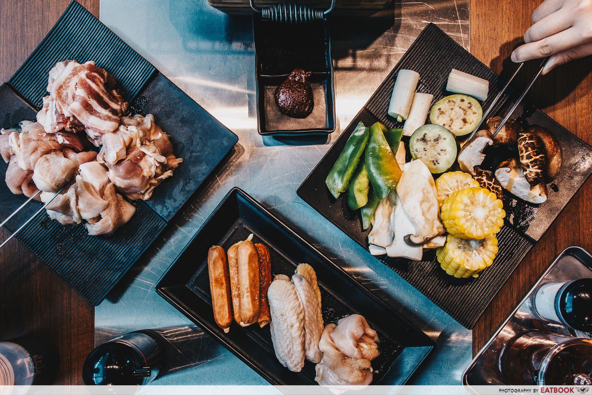 Yakiniku Ohji Flatlay Sushi Buffet Food Street Food