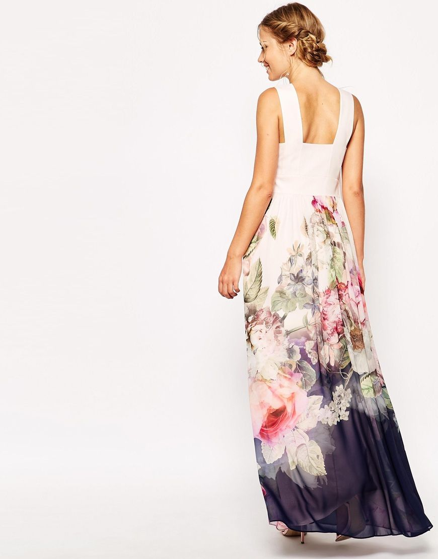Image 2 of Ted Baker Maxi Dress in Pure Peony Print