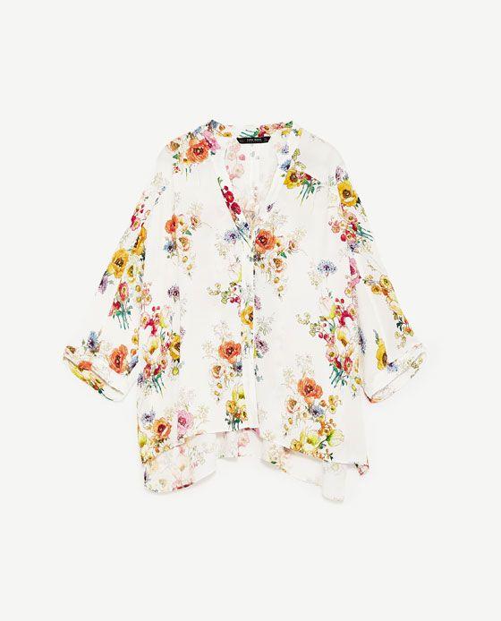 Billede 8 Af Oversized Floral Print Blouse Fra Zara